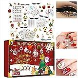 Osuner Calendario dell'Avvento di Natale 2021, Beauty Blind Box Calendario dell'Avvento 24 Giorni Adesivi per Unghie Decorazioni per Unghie Adesivi per Ciglia Sorprese Regali di Natale