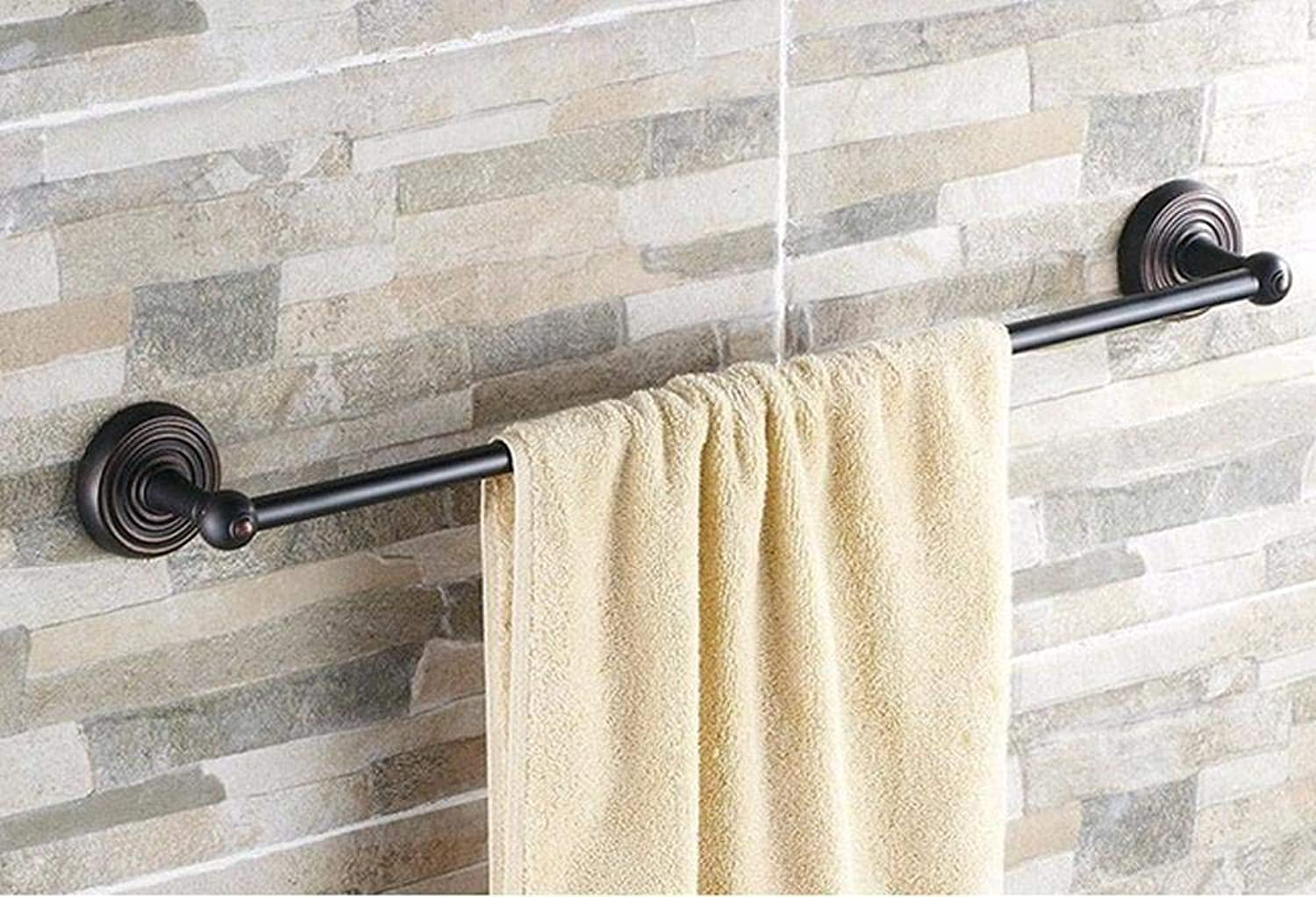 Elegant Towel Stand Black Oil Rubbed Brass Bathroom Wall Mounted Single Towel Bar Holders