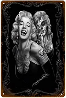KUSTOM FACTORY - Placa de Acero Marilyn Monroe Rock & Tattoo