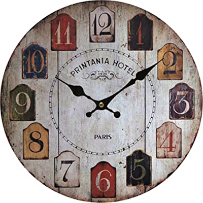 Imoerjia European Style Wall Clock Creative Wall Clock, Dia 30Cm