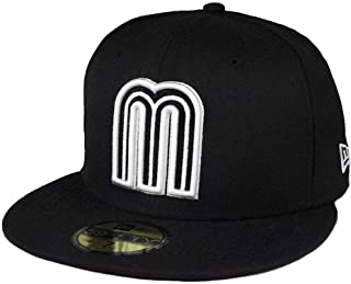 New Era 59fifty World Baseball Classic Mexico Fitted hat Cap Black/White Men Size
