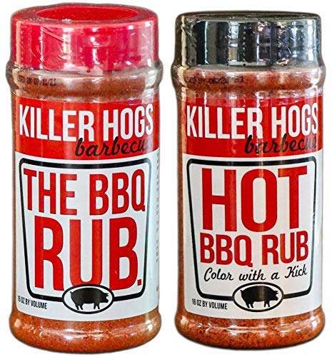 Killer Hogs BBQ Rub Bundle - The BBQ Rub (Original) - Hot Rub