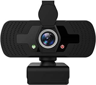 Webcam with Microphone for Desktop YIHUNION Laptop HD 1080p Web Camera Compatible with Plug and...