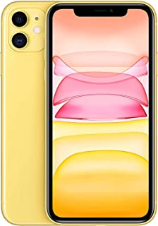 Apple iPhone 11 With facetime Physical Dual SIM -  128GB, 4G, LTE, Yellow, International Version