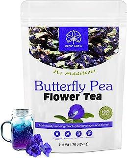 100 % Premium Butterfly Pea Flower Tea- Organic Butterfly Pea tea Rich in Antioxidants, edible dried herbal flowers For bl...
