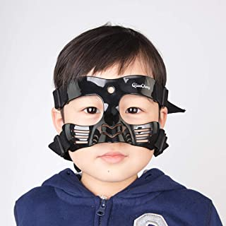 Qiancheng Nose Guard Face Shield, Protective Face Mask Black L5 Series with Silicone Padding