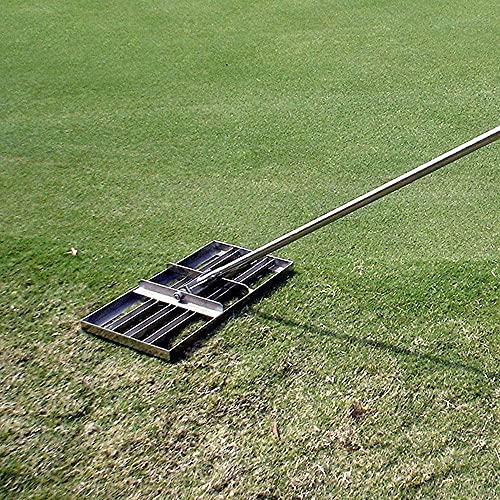 HTDHS Prato a Livello di Golf - con palo in Acciaio Inox - Strumento di livellatore del poggiagino del Terreno Pesante per Il Campo da Golf del Cantiere