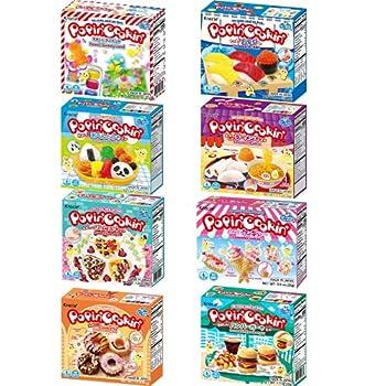 Kracie Popin Cookin DIY Candy Making Kit Mutliple Packs Tanoshii Bento Ramen and Waffle Cakes Sushi and Donuts Hamburger and Kawaii Gummy Land  Pack of 8