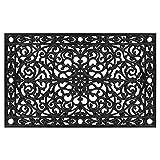 "Calloway Mills 900223048 Gatsby Rubber Doormat, 30"" x 48"", Black"