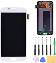LCD Display Touch Screen Digitizer Assembly Replacement with Tools for Samsung Galaxy S6 G920 G920A G920i G9200(White)