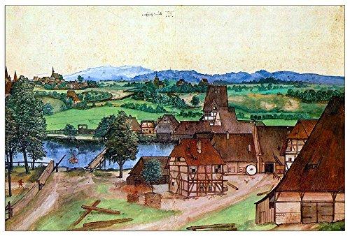 ArtPlaza Albrecht Durer-Nuremberg, draadtrekkers bij de molen Pegnitz Decoratief Paneel, Hout, Multi-Colour, 90 x 1.8 x 60 cm