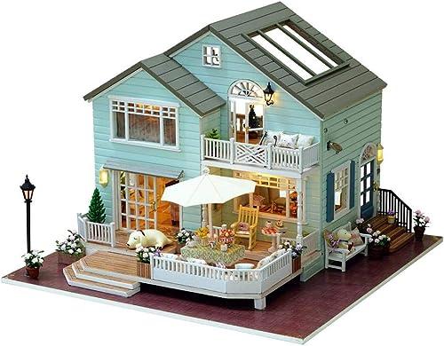 Handgefertigtes Puppenh er DIY HolzmodellbauSätze, DIY Cottage Home Decoration K gin Der Stadt, Geburtstagsgeschenk Cottage Kit House Für Kinder Und Babys