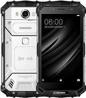 Unlocked Cell Phones, DOOGEE S60 4G Rugged Smartphone Unlocked Android 7.0-5580mAh Battery - 5.2'' FHD Screen - IP68 Waterproof Dustproof Shockproof - 6GB RAM + 64GB ROM - 21MP Camera - Silver