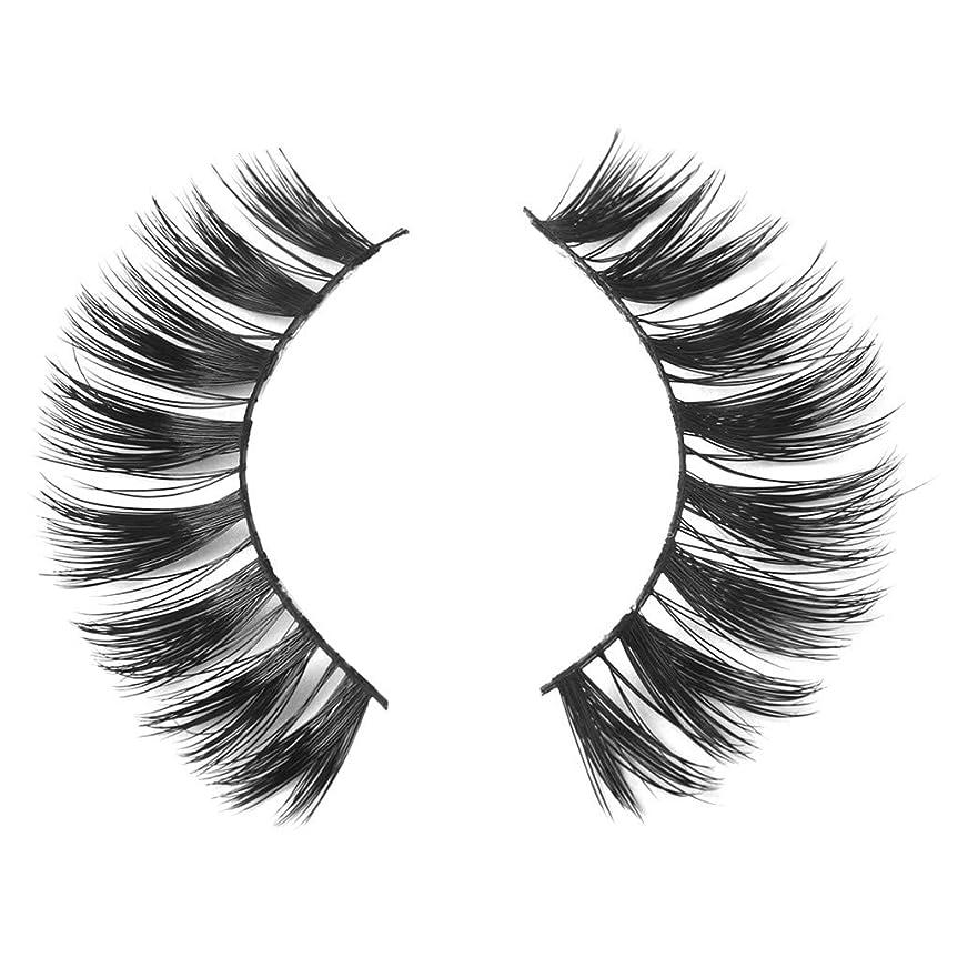 過言接尾辞監督するミンクの毛の自然な厚くなる化粧品の3D版のための一組のまつげ