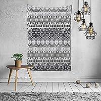 Nordic Snowflake Pattern Scandinavian Style Traditional and Modern Print Home Decor タペストリー おしゃれ 60X40インチ(152x102cm)タペストリー壁掛け手工芸品寝室/リビングルーム/寮/カーテンのための芸術装飾家の装飾