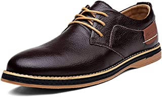 [CHENJUAN] 靴メンズビジネスオックスフォードソフトドライビングローファーカジュアルウイングチップシューズレースアップスタイル本革フラットヒール