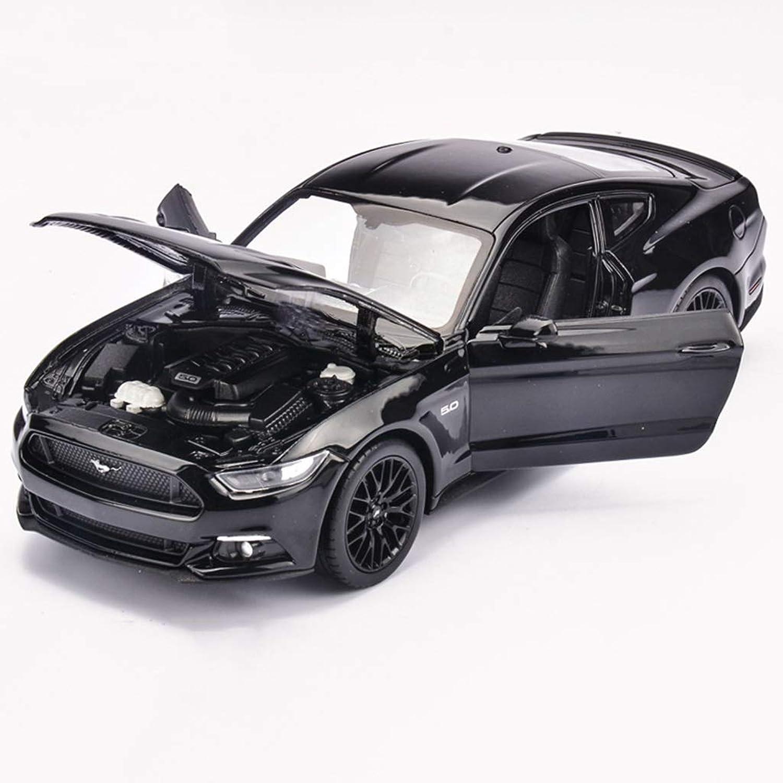 QRFDIAN Original Ford Mustang GT Sportwagen Legierung Modell 1 24 Simulation Auto Sammlung Modell Legierung Körper Haube Tür kann das Vorderrad öffnen kann Lenkung Sein (Farbe   SCHWARZ) B07L2SVJFV Haltbarer Service  | Modisch