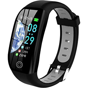 Tipmant Smartwatch, Relojes Inteligentes Mujer Hombre Niños Impermeable IP68 Pulsera Actividad Inteligente con Pulsómetro Podómetro Monitor de Sueño Caloría Smart Watch Men Women Kid para Android iOS