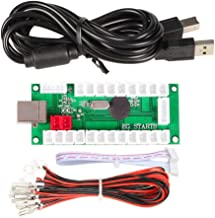 ORARE Zero Delay USB Encoder To PC Games Controllers For Arcade Joystick Sanwa DIY Kits Parts Mame Games ( 5Pin + 2.8mm Cables )