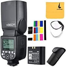 Godox V860II-C Pioneering 2.4G Wireless E-TTL II Li-on Camera Flash Speedlite Compatible for Canon 6D 50D 60D 1DX 580EX II 5D Mark II III (V860II-C)