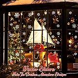 Schneeflocken Aufkleber, TedGem Schneeflocken Fensterbild, Weihnachtsdeko, Weihnachten Fensterdeko Set, DIY Weihnachtsdeko, Winter Dekoration für Türen, Schaufenster, PVC Fensterdeko Set und mehr - 4