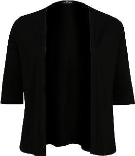 Doris Streich Chaqueta para mujer con manga corta y aplicaciones con cremallera.