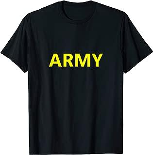 US Army APFU APFT PT Gym Uniform Workout Physical Training T-Shirt