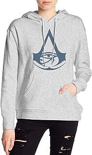Ladies Assassins Creed Origins Logo Drawstring Hoodie Casual Sweatshirts