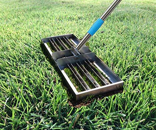FLY HAWK Lawn Leveling rake, Garden Finishing Stainless Steel Flat Sand Crusher (5 FT)