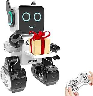 اسباب بازی ربات برای بچه ها ، ربات کنترل از راه دور تعاملی هوشمند با کیت رباتیک آموزشی ساخته شده Piggy Bank برای آواز خواندن و رقص برای تولد دختران و پسران (سفید)