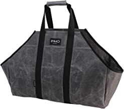 Firewood Log Carrier, Durable Waxed Canvas Carrying Tote Bag for Wood Pile, Large Fire Wood Holder Accessories for Firepla...