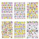 Naler Adesivi pasquali adesivi autoadesivi per bambini Bambini Artigianato fai da te Decorazione arte, 6 fogli