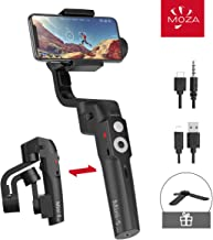 MOZA Mini-S Essential Foldable Phone Gimbal, Timelapse Object Tracking Zoom Vertigo..
