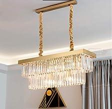 Junhong Crystal Chandelier LED 3 Brightness Gold Crystal Ceiling Light Chandelier Restaurant lamp Chandeliers Ceiling lamp...