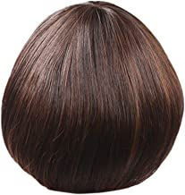 Fashion Synthetic Mushroom Head Brown Black Hair Wig Natural Hair Wigs