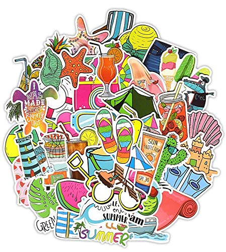 Summer Wind Beach Stickers Suitcase Suitcase Stickers Laptop Guitar Skateboard Children Stickers 50 Sheets