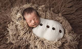 Mummyhug Newborn Baby Sleeping Bag Photography Photo Prop Wrap Baby (Button)