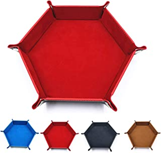 ROSEBEAR Plateau de Tri Pliable Plateau de Rangement de Bureau Style Bouton Pu pour Tenir Montres Bijoux Clés (Rouge)