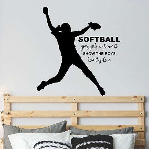 VinylWritten Softball D/écor For Girls Softball Catcher Gifts Personalized Girls Softball Catcher Decal