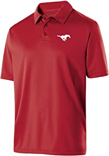 NCAA SMU Mustangs Mens Shift PoloShift Polo, Scarlet, L