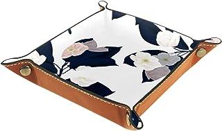 Vockgeng Fleurs Simples Boîte de Rangement Panier Organisateur de Bureau Plateau décoratif approprié pour Bureau à Domicil...