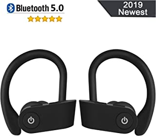 Bluetooth Headset V5.0, TWS Headset IPX7 Waterproof Headphones play for a long time, equipped with a microphone and stereo HD sound quality, compatible with Android / iPhone