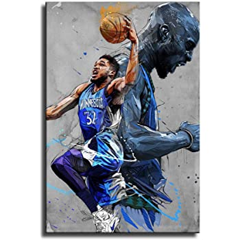 Amazon Com Wenin Karl Anthony Towns And Kevin Garnett Canvas Art Poster And Wall Art Picture Print Modern Family Bedroom Decor Posters Posters Prints