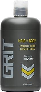 GRIT Hair & Body, 500ml 3-in-1 Shampoo, Conditioner & Body Wash for Men Washes & Moisturises Hair & Skin