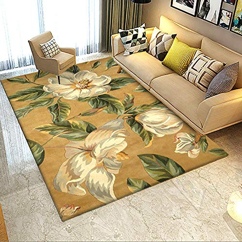 Alfombra larga para pasillos de 60 x 180 cm, color amarillo