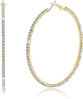 Best gold crystal hoop earrings Reviews