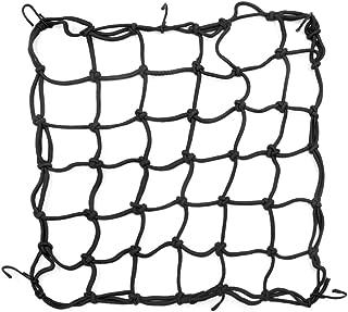sourcing map 80cm X 40cm Portaequipajes Maletero de Coche Red El/ástica Malla de Nylon Negro con Ganchos