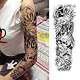 Handaxian 3pcsFull Flower Arm Tattoo Sticker pez Pavo Real Lotus Body Painting Tatuaje de Transferencia de Agua Set 3pcs-13