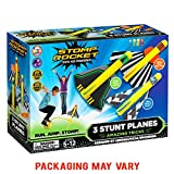 Stomp Rocket Stunt Planes - 3 Foam Plane Toys for Boys and Girls - Outdoor Rocket Toy Gift for Ages...