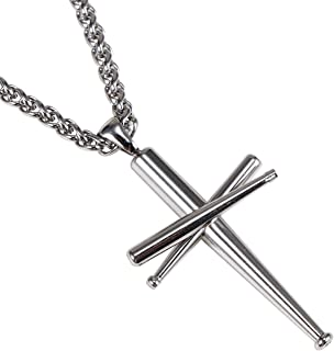 baseball bat cross charm